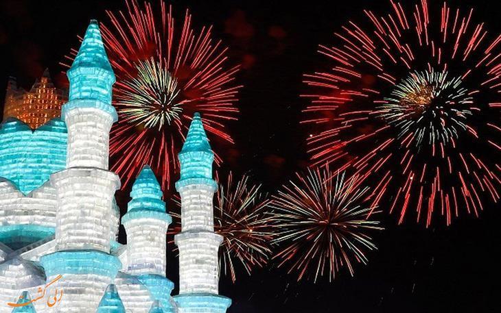 فستیوال برف و یخ هاربین، باشکوه ترین جشن زمستانی دنیا در چین!