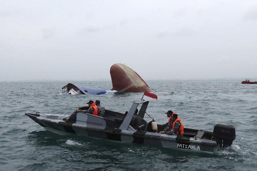 واژگونی قایقی با 50 مسافر در اندونزی