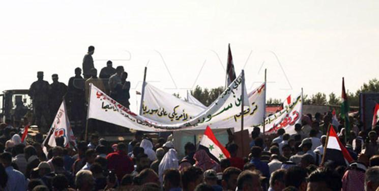 تظاهرات مردم در شرق سوریه علیه ترکیه