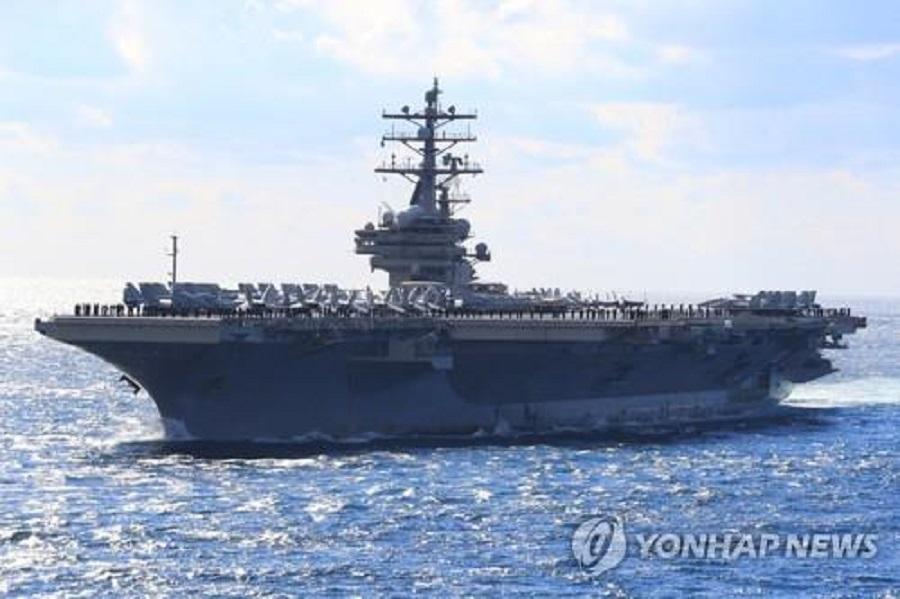 ناو هواپیمابر هسته ای آمریکا وارد آب های کره جنوبی شد