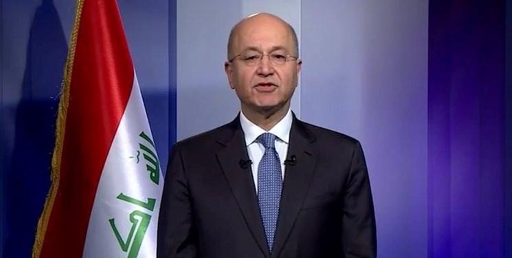المیادین: رئیس جمهور عراق، تهدید به استعفا نموده است