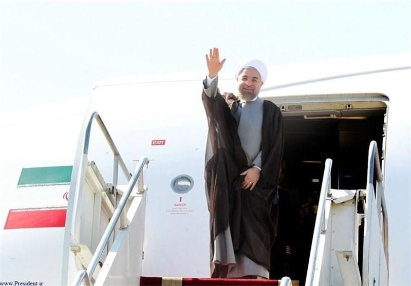 رئیس جمهوری پاریس را به مقصد تهران ترک کرد