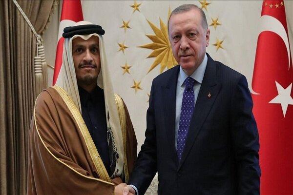 وزیر خارجه قطر با مقامات ترکیه ملاقات کرد