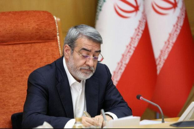 رحمانی فضلی به رئیس جدید مجلس شورای اسلامی تبریک گفت