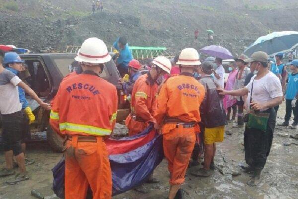 شمار قربانیان رانش زمین در ایالت کاچین به 113 نفر رسید