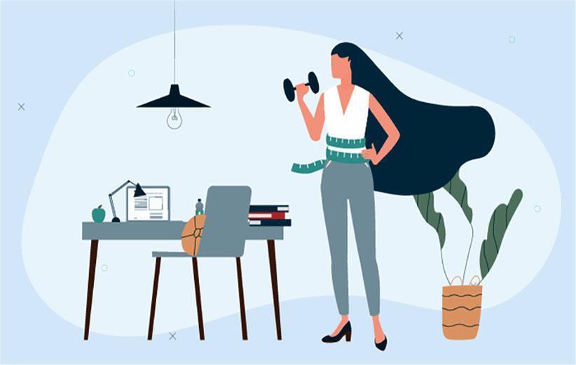 15 تمرین آسان و موثر برای کاهش وزن در محل کار