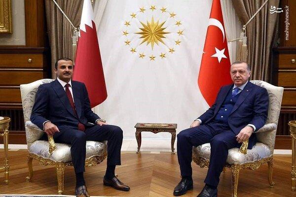 اردوغان با امیر قطر تلفنی تبادل نظر کرد