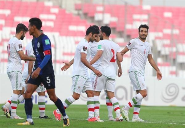 انتخابی جام جهانی 2022، فزونی پرگل ایران مقابل کامبوج در 45 دقیقه نخست